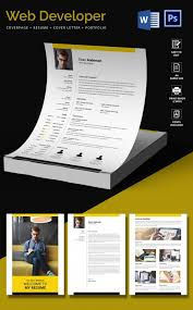 Word Resumes Templates Web Developer Resume Template U2013 11 Free Word Excel Ps Pdf