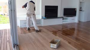 how to paint a wood floor paint or apply clear polyurethane or