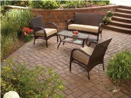 amazon com wicker patio furniture 4 piece mainstays includes