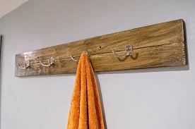 Towel Rack Ideas For Bathroom Colors Diy Reclaimed Wood Bath Art And Towel Rack