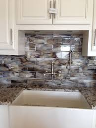 Kitchen Subway Tile Backsplash Designs by Decoration Ideas Endearing Home Interior Design Using Beach Glass