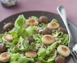 cuisiner le boudin blanc salade de boudin blanc et marrons recette de salade de boudin