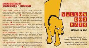 yde kitchen u0026 bar menu yellow dog eats