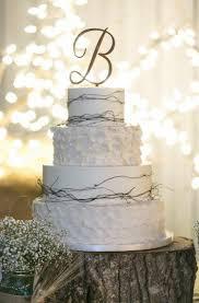b cake topper script letter wooden cake topper fulton craft