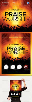the power of praise worship a3 template flyer template print