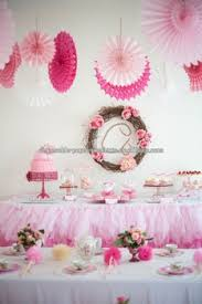 hanging paper fans tissue paper fans party decor ideas planning styling dessert table