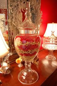italian home decor accessories accessories astonishing crystal vase with red and golden beads