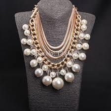 big fashion pearl necklace images European big fashion multilayer pearl necklace joyeria female jpg