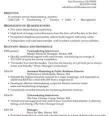 telemarketing resumes telemarketing sales representative resume