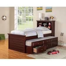 Trundle Bed With Bookcase Headboard Kids Trundle Bed Storage