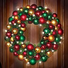 Indoor Wreaths Home Decorating by Pre Lit Decorated Christmas Wreaths Home Decorating Interior