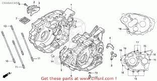 honda trx300ex fourtrax 300ex 1994 r usa crankcase schematic