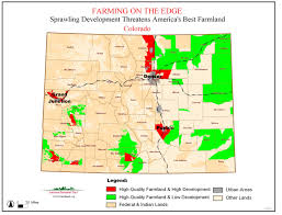 Cities In Colorado Map by Farming On The Edge State Maps American Farmland Trust