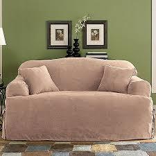 sure fit soft suede t cushion sofa slipcover walmart com