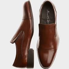 brown leather slip on loafers men u0027s dress shoes kenneth cole