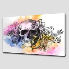 canvas print pictures high quality handmade free next day delivery floral skull large canvas wall art pictures prints