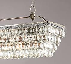 Rectangular Chandelier With Crystals Drum Chandelier With Crystals Dining Room Plus Floral Arrangement