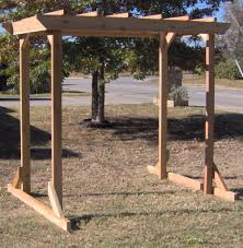 pergola style garden arbor