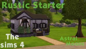 Rustic House The Sims 4 House Build Rustic Starter Youtube