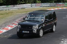 land rover lr4 black spy shots 2014 land rover discovery lr4 lightly updated may