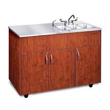 Ozark River Mobile Sink Triple Station Hot Water Stainless Top - Mobile kitchen sink