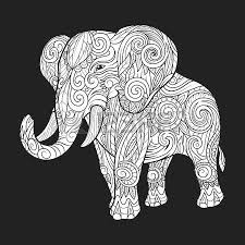 elephant ornament ethnic abstract design vector
