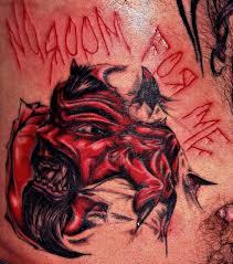 bloody skin rip tattooimages biz