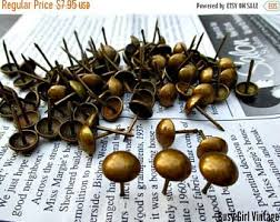 Where To Buy Upholstery Tacks 100 Vintage Copper Upholstery Tacks Upholstery Nails French
