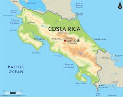 Map Of South And Central America Road Map Of Costa Rica And Costa Rica Road Maps
