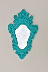 Turquoise Home Decor Accessories Bright Bold Turquoise Mirror Ornate Mirror Glossy Mirror