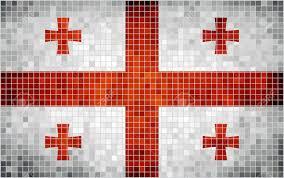 Georgian Flag Abstract Mosaic Flag Of Georgia Georgian Historical National