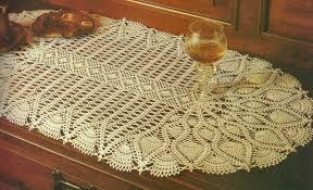 Crochet Table Runner Pattern Oval Table Runner Crochet U2014 Decor U0026 Furniture Table Runner