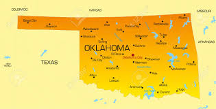 Oklahoma Map With Cities Oklahoma State Map Wisconsin Map