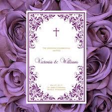 Church Wedding Programs Catholic Church Wedding Program Kaitlyn Plum Purple W Gold