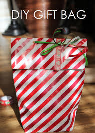 diy gift bag out of wrapping paper shaina glenn