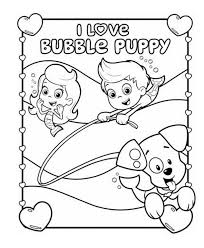 bubble puppy guppies puppy bubble guppies coloring pages i love