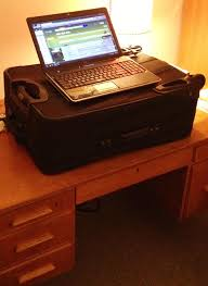 Make A Standing Desk by Weighthacker Use This Simple Idea To Make A Standing Desk When You