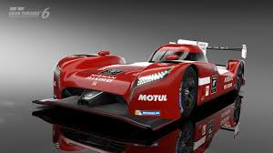 red nissan sports car get in the seat of the gt r lm le mans racer in gran turismo 6