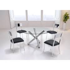 ZUO Stant Chrome Dining Table The Home Depot - Chrome kitchen table
