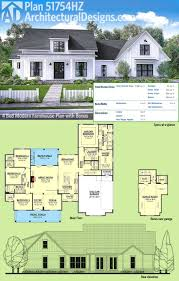 best 25 farmhouse plans ideas on pinterest farmhouse house architectural designs modern farmhouse plan 51754hz gives you over 2 600 square feet of living space plus
