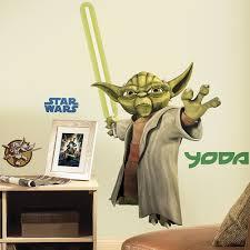amazon com star wars yoda peel stick giant wall decals home amazon com star wars yoda peel stick giant wall decals home kitchen