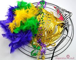 mardi gras wreaths easy thrifty mardi gras wreath the inspiration vault