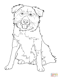 border collie coloring free printable coloring pages