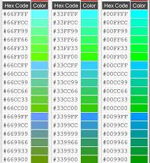 Html Table Font Color Html Color Codes U2013 Demystified U2013 My Eggclectic Interests Ii