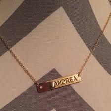 name tag necklace aldo accessories andrea name tag necklace poshmark