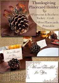 thanksgiving place card holder turkey free personalizable place