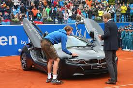 bmw open u0027s winner alexander zverev takes home a bmw i8 http