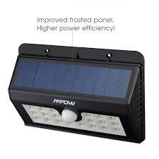 Solar Powered Motion Sensor Outdoor Light by Mpow 20led Solar Powered Motion Sensor Wall Light Outdoor Garden