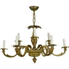 Baroque Chandelier Vintage Brass Baroque Chandelier The Light Warehouse