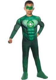 Light Up Halloween Costumes Child Green Lantern Deluxe Muscle Light Up Costume Escapade Uk